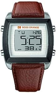 Boss Orange - 1512610 - Montre Homme - Quartz Digitale - Bracelet Cuir Marron