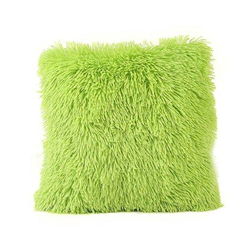 Kword cuscino caso, divano vita a gettare cuscino copertina home decor peluche federe cuscini di cachemire copertura throw cuscino caso 43x43cm (verde)