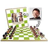 Personalisiertes Schachspiel - bedruckt mit ihren Bildern - Holzvariante mit 3D-Figuren