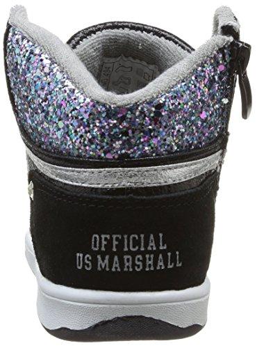 US Marshall Douna, Baskets mode fille Noir (Noir/Argent)