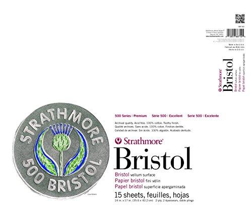 Strathmore: 500 Bristol 2Ply Vellum 14 X 17 Zoll 15 Blatt Pad - Acid-wash Finish