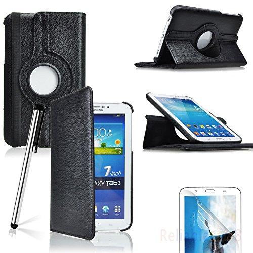 Samsung Galaxy Tab 3 7.0 17,78 cm billigen TOPGADGETSUK Buch und Standfunktion, inklusive: Displayschutzfolie (für Galaxy Tab 3 17,78 cm Zoll P3200/P3210, WiFi oder 3 G + WLAN), Galaxy Tab 2 17,78 cm Schutzhülle Bestseller von Verkäufer 360 BLACK