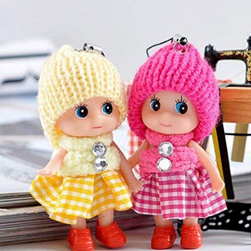 1pc Mini Plush Key Chain Cute Fashion Kids Dolls Keychain Soft Stuffed Toys Keyring Baby - Sunglasses Year Assortment Ladybug Jewelry Friendly Lights Assorted Toddlers Movi ()