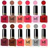Best Nail Polish Neon Colors - Mi Fashion 12 Pcs Color Nail Polish Shades-Magenta,Dark Review