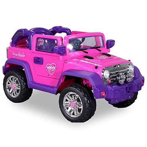 RC Auto kaufen Kinderauto Bild 4: Kinder Elektroauto Jeep Pink Girly JJ235 Elektro Kinderauto Kinderfahrzeug*