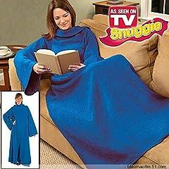 Idea Regalo - TrAdE shop www.tradeshopitalia.con® - Coperta con Maniche Plaid Caldo Inverno Unisex Uomo Donna SOFFICE CASA
