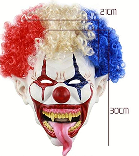 WasJmu 1  New Joker Clown Costume Mask Creepy Evil Scary Halloween Clown Mask Adult Ghost Festive Party Mask Supplies Decoration,White