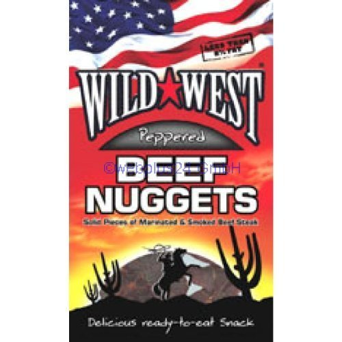 Wild West Nuggets Beef Jerky Peppered 25G by Wild West