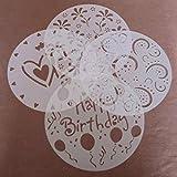 joyliveCY Plantilla redonda para decoración de tartas con azúcar con dibujos de corazón y flores,...