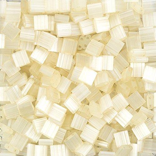 Ivory Mist (Miyuki Tila Perlen Ivory Elfenbein Mist (quadratisch) 5x 57,2g)