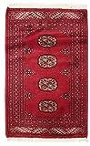 Pakistan Buchara 3ply Teppich 62x98 Orientteppich