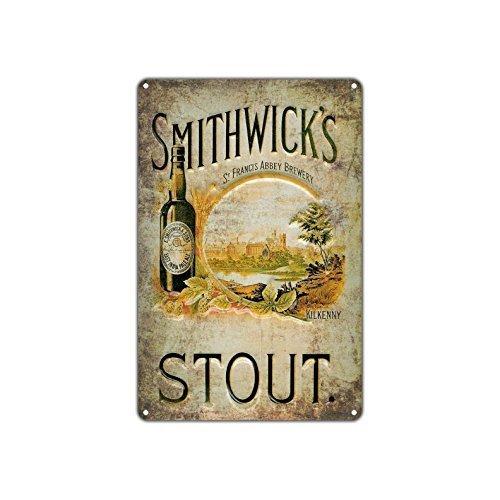 Vintage Smithwick's Stout Craft Art Store Man Cave Bar Pub Metall Wanddeko Kunst Aluminium Blechschild Geschenk Irish Red Beer Metal Pub