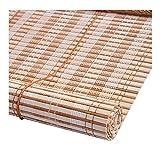 PENGFEI Tenda A Rullo Bamboo Tapparella Cortina di bambù Ristrutturazione Casa Interno Protezione Solare Traspirante, 2 Colori, Personalizzazione delle Taglie (Colore : B, Dimensioni : 75X225CM)