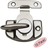 Designers Impressions 53621 Satin Nickel Cam-Action Window Sash Lock and Keeper - by Designers Impressions
