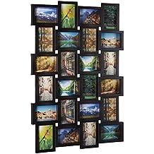 Relaxdays–Marco para 24fotos, marco de fotos para colgar, foto Collage Incluso diseñar, HBT: 59x 86x 2,5cm, color negro