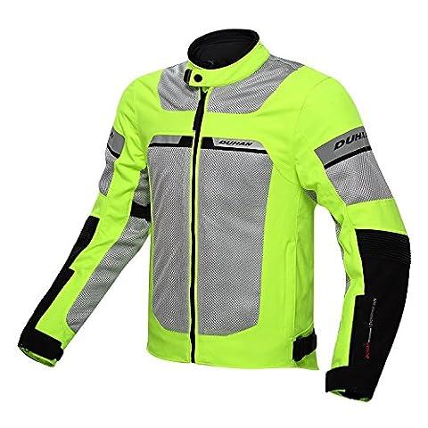 Veste moto en maille filet avec doublure intérieure étanche–Vert