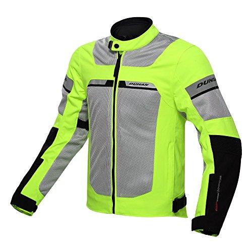 Mesh Motorrad Jacke mit wasserdicht Innenfutter–Grün