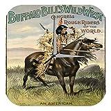 Wanduhr Western Cowboy Indianer Deko Buffalo Bill Dekouhr