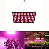 Lampwin Lampada per Piante 45W 225 LED 6-Band Full Spectrum IR & UV, Lampada da Coltivazione Crescita Idroponica, Illuminazione di Pannello per Indoor Serra Verdura Fioritura Grow Box
