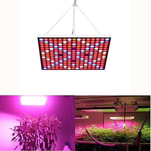 Lampwin LED Pflanzenlampe Vollspektrum Wachsen Licht 45W 225 LEDs, Zimmerpflanzen Wachstumslampe, Pflanzen Panel Beleuchtung für Hydroponic Gewächshaus Gartenarbeit Gemüse Blooming Growbox (6 Farben: Rot: 153, Blau: 34, Weiß: 24, Oran: 10, UV: 2, IR: 2) (Licht-lampe Wachsen)