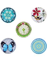 Morella señorías Click-Button Set 5 pcs pulsadores beige, mariposa y pájaro