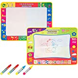 Biubee 2 Pack Foldable MagiMat 80*60 cm + 4 Water Pens-4 Color Water Drawing Mat Board Educational Toy for Kids