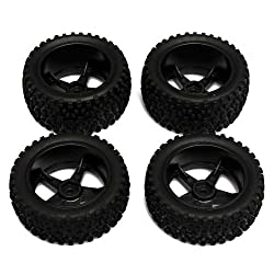 Generic DYHP-A10-CODE-5465-CLASS-1-- RC Car Buggy Truck ruck HSP HPI Front Rear Rear 4pcs 1:10 1/10 Tires Off-Road Wheel ff-Ro Rubber Tires :10 1/1 --DYHP-UK10-160819-3427