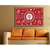 Tamatina Warli Art Canvas Painting - A Day In A Village -Tribal Art - Traditional Canvas Paintings - Paintings For Home Décor - Paintings For Living Room - Paintings For Bedroom - Paintings For Drawing Room - Tribal Paintings For Wall