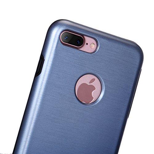 """iPhone 7Plus Schutzhülle, [Tough Armor] CLTPY iPhone 7Plus Handycase Ultra Hybrid PC & Silikon Abdeckung mit Flip [Kickstand] & Kartenschlitz, Schwarz Rüstung Harter Fall für 5.5"""" Apple iPhone 7Plus ( Blau A"""