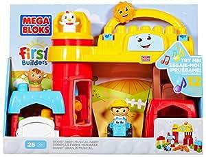 Mega Bloks - 81255 - Jeu De Construction - First Builders - La Ferme Musicale - 25 Pièces