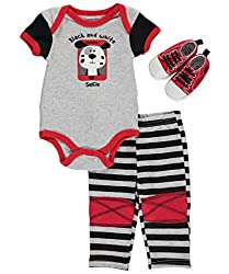 Buster Brown Baby Boys Selfie Dog 3 Piece Creeper