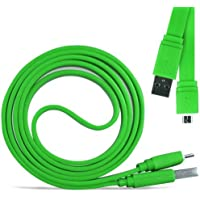 N4U Online® - Samsung Galaxy Fame Super Fast 1 Metre Micro USB Flat Data Transfer Sync Charger Cable - Green