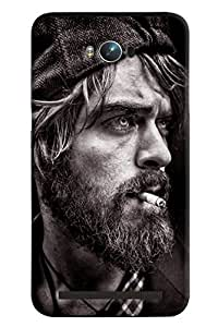 Blue Throat Man Smoking Hard Plastic Printed Back Cover/Case For Asus Zenfone Max