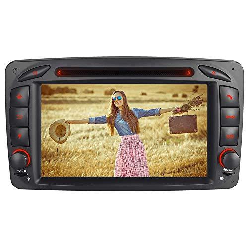 IAUCH Autoradio-Navigationssystem für Mercedes Benz C ClassW203 W209 Viano Vito W463 2DIN Video-Unterstützung WiFi/4G DAB+ Spiegel Link Freisprechen Freisprechen