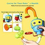 INCHANT Baby Bad-Spielzeug Wasser-Dusche Sprayer Wasserspielzeug Badewanne Brunnen Spielzeug für Kinder Kleinkind Badspielzeug mit Sucker Early Education Interaktive über 3 Jahre älter Toddlers (Blau) - 6