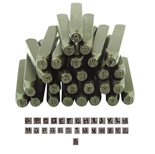 PROOPS Juwelier-Schraubstock, Metall, 27-teilig, Großbuchstaben, Großbuchstaben) (Schlagbuchstaben Lochpfeifen 3.35 cm M9019 MM (1)),
