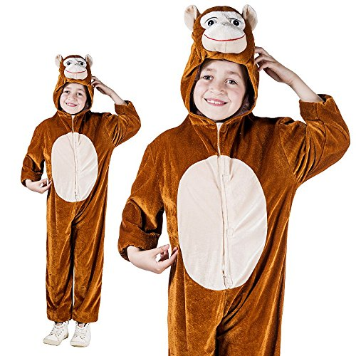 Monster Jam Kinderkostüm AFFE Overall Verkleidung Größe S Unisex Kinder Karneval Monkey Schimpanse - Monster Jam Kostüm