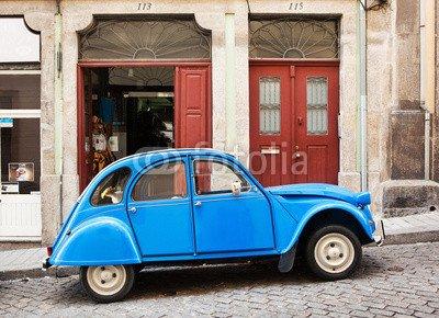 Leinwandbild Blue Car