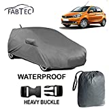 #7: Fabtec Waterproof Car Body Cover for Tata Tiago with Mirror & Antenna Pockets, Buckle Lock and Storage Bag Combo!