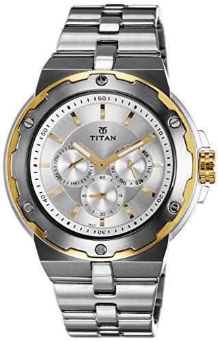 51LlrnAq35L - Titan 1654BM01 Mens Silver watch