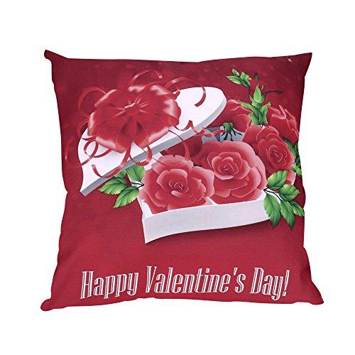Gusspower Funda Cojín Almohada Día de San Valentín'Happy Valentine's Day'Decoración para Sofá...