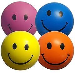 Idea Regalo - StressCHECK Pallina antistress di colori misti,giallo,rosa,blu,4 pezzi