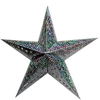 Acan Estrella Plateada de Navidad en cartón 60 cm