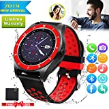 Bluetooth Smartwatch Touchscreen Kamera Wasserdicht Smart Uhr Sport Smart Watch mit Whatsapp Bluetooth Uhr Handy Intelligente Armbanduhr Kompatibel IOS iphone Andriod Samsung Huawei für Herren Damen