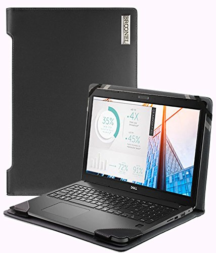Broonel - Profile Series - Black Leather Luxury Laptop Case For The Dell Latitude 3580 15 Inch