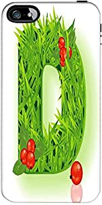 Snoogg Vector Grass Letter Designer Case Cover For Apple Iphone 5 / 5S