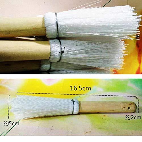 LXD Weiche Bürste, Küchenreinigungswerkzeuge , Startseite Holzgriff Weiße Seiden-Spülbürste - Küchenhelfer-Reinigungsbürste - Holzgriff-Pfannenbürste -