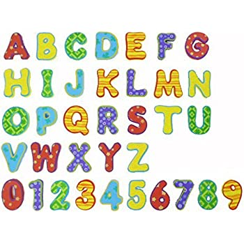 Munchkin Learn Bath Toy 36 Bath Foam Letters and Numbers Letters
