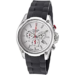 Swiss Alpine Military Red Force Herren 44mm Chronograph Datum Uhr 1635.9832 SAM