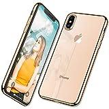 ZOVBR Coque iPhone XS, Coque iPhone X, Ultra Fine TPU Silicone [Crystal Clear] Coque...
